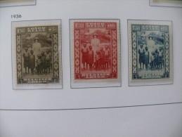 "Congo Belge 1936 ** MNH cob 194/196  "" Reine Astrid "" cat: 5,50 Euro"