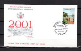 """Enveloppe 1er Jour De 2000 """"  MONACO 2000 : 50 ANS DU MUSEE POSTAL """" N° YT 2279. Parfait état. FDC - FDC"""