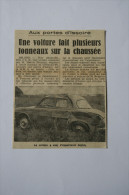 Coupure De Presse 1962 Accident Automobile RENAULT Dauphine Issoire - Historische Documenten
