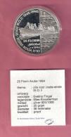 ARUBA 25 FLORIN 1994 SILVER PROOF OLIE VOOR VREDE SHIP - [ 4] Colonies