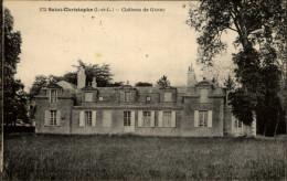37 - SAINT-CHRISTOPHE - Chateau - France