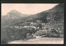CPA Saint-Michel-de-Maurienne, Vue Générale Et Route Du Lautaret Par Le Galibier - Saint Michel De Maurienne