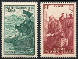 FRANCE 1941 - Yv. 474 Et 475 ** TB  Cote= 4,15 EUR - Prisonniers De Guerre (2 Val.) ..Réf.FRA27294 - Francia