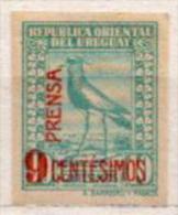 Uruguay MLH Overprinted Stamp - Birds