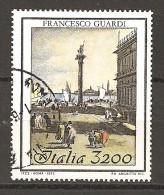 ITALIA - 1993 FRANCESCO GUARDI Usato - 1991-00: Oblitérés