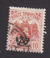 Albania, Scott #131, Used, Double Headed Eagle And Skanderbeg Overprinted, Issued 1920 - Albania