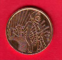 5 Euro Dorée OR Fin ??  France 2008 Présidence Française Union Européenne  - Très Rare - France