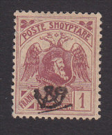 Albania, Scott #134, Mint Hinged, Double Headed Eagle And Skanderbeg Overprinted, Issued 1920 - Albania