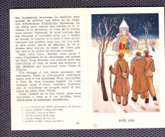 PETIT DOCUMENT EXPEDIE AUX PRISONNIERS DE GUERRE . NOEL  1943 . - 1914-18