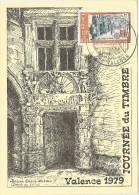 Carte postale Journ�e du timbre 1979 VALENCE timbre illustration PARIS L'H�tel des Postes