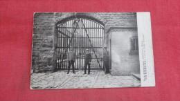 Minnesota> Stillwater  Main Prison Gate          has creases l -1834