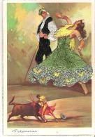Flamenco   Espagne Corrida Carte Brodée   Peteneras - Ricamate