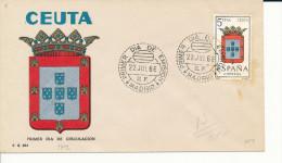 Brief/Carta Spanien/España FDC - Provincia De Ceuta - Madrid - 1966 - Siehe Scan *) - Spanien
