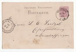 Allemagne   Carte Avec Entier Postal   Cachet De VOEHRENBACH  1885    Baden Württemberg - Germany