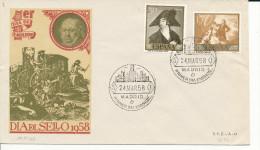 Brief/Carta Spanien/España FDC - Dia Del Sello - Madrid - 1958 - Siehe Scan *) - Spanien