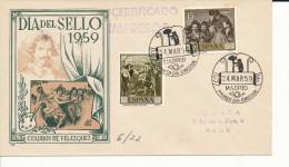 Brief/Carta Spanien/España FDC - Dia Del Sello - Madrid - 1959 - Siehe Scan *) - Spanien