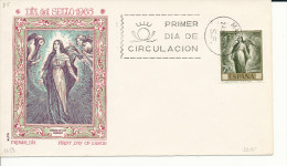 Brief/Carta Spanien/España FDC - Dia Del Sello - Madrid - 1965 - Siehe Scan *) - Spanien