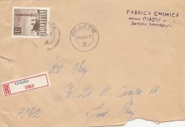 19620- RADIO, STAMPS ON REGISTERED COVER, 1968, ROMANIA - 1948-.... Republics