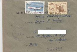 19642- PLANE, HOTEL, STAMPS ON REGISTERED COVER, 1997, ROMANIA - 1948-.... Républiques