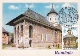 19692- MOLDOVITA MONASTERY, MAXIMUM CARD, 1995, ROMANIA - Maximumkaarten