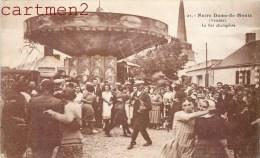 NOTRE-DAME-DE-MONTS LA BAL CHAMPETRE MANEGE CAROUSEL FOIRE FETE FORAINE 85 VENDEE - France