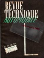 RTA - REVUE TECHNIQUE AUTOMOBILE- CHRISLER - CAMION SOMUA JL 17-  -  1953