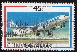 Bahamas Scott #C7, 45� multicolored (1987) Aircraft (Pan Am Airbus), Used
