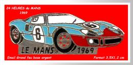 SUPER PIN´S JAGUAR FORMULE 3000 : Au 24H Du MANS En 1969; Bel émail Grand Feu Base Or - Jaguar