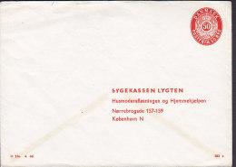 Denmark Postal Stationery Ganzsache Entier PRIVATE Print 50 Øre SYGEKASSEN LYGTEN, København N. (183x) Unused - Postal Stationery