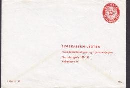 Denmark Postal Stationery Ganzsache Entier PRIVATE Print 50 Øre SYGEKASSEN LYGTEN, København N. (191x) Unused - Postal Stationery
