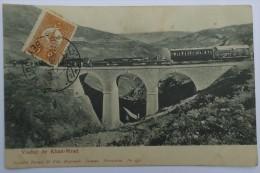 cpa ASIE LIBAN - Viaduc de Khan - Mrad , train - Recto - verso - Tarazi Beyrouth - Damas JERUSALEM