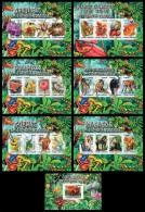 st15204-8a10a05b S.Tome Principe 2015 Mushroom 7 s/s