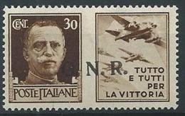 1944 RSI GNR VERONA PROPAGANDA DI GUERRA 30 CENT MNH ** - W186-2 - Propaganda Di Guerra