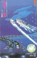 TARJETA DE JAPON DE UN PUENTE DE 105 UNITS (270-144-1989) BRIDGE-BARCO-SHIP - Japón