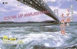 TARJETA DE JAPON DE UN PUENTE DE 105 UNITS (330-179-1989) BRIDGE - Japón