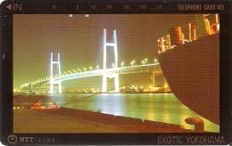 TARJETA DE JAPON DE UN PUENTE DE 105 UNITS (250-419-1990) BRIDGE- EXOTIC YOKOHAMA - Japón