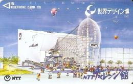 TARJETA DE JAPON DEL EDIFICIO DE NTT DE 105 UNITS (290-305-1989) GLOBO-BALLOON - Japón