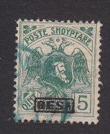 Albania, Scott #156, Used, Skanderbeg And Double Headed Eagle Overprinted, Issued 1922 - Albania