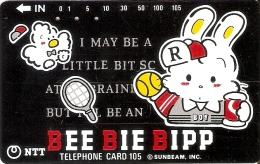 TARJETA DE JAPON DE BEE BIE BIPP DE 105 UNITS (290-315-1989) TENIS-TENNIS - Japón