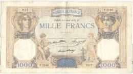 1000 France Cérès Et Mercure 1936 - 1871-1952 Circulated During XXth
