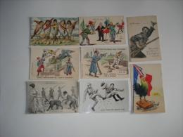 Beau Lot De  34 Cpa Theme Patriotique Et Satyriques , Avec Illustrateurs..caricatures Militaires - Patriotic