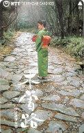 TARJETA DE JAPON DE UNA JAPONESA DE 105 UNITS (290-281-1989) MUJER-WOMAN - Japón