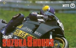 TARJETA DE JAPON DE UNA MOTO EN SUZUKA DE 105 UNITS (290-306-1989) MOTORBIKE - Japón