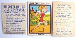 1 CHROMO Image MABISCOTTE FAMILLE BELFOULE LA MERE + 1 Vignette Biscotterie De L´ile De France - Süsswaren