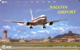 TARJETA DE JAPON DE UN AVION EN NAGOYA AIRPORT DE 105 UNITS (290-219-1988) PLANE - Japón