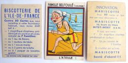 1 CHROMO Image MABISCOTTE FAMILLE BELFOULE L'AIEULE + 1 Vignette Biscotterie De L´ile De France - Confiserie & Biscuits