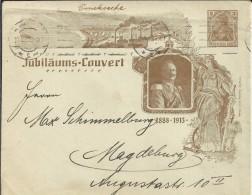 ALEMANIA SOBRE ENTERO POSTAL JUBILAUMS COUVERT 1883-1913 - Cartas