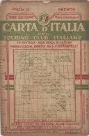 PES#005  CARTA D'ITALIA TOURING CLUB ITALIANO primo '900 Bertarelli De Agostini - Foglio 11 - BRESCIA/BERGAMO/CREMONA
