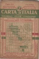 PES#012  CARTA D'ITALIA TOURING CLUB ITALIANO Primo '900 Bertarelli De Agostini - Foglio 20 - PESARO/URBINO/ANCONA/FORLI - Topographische Karten