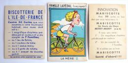 1 CHROMO Image MABISCOTTE FAMILLE LAPEDAL LA MERE (2) + 1 Vignette Biscotterie De L´ile De France - Süsswaren